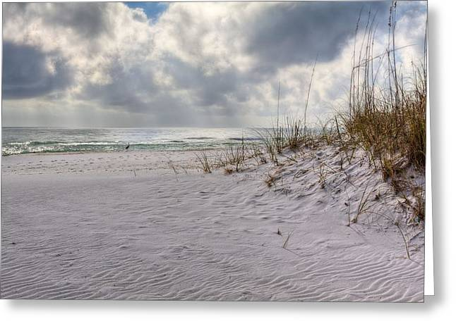 Santa Rosa Beach Greeting Cards - Rain in the Forecast  Greeting Card by JC Findley
