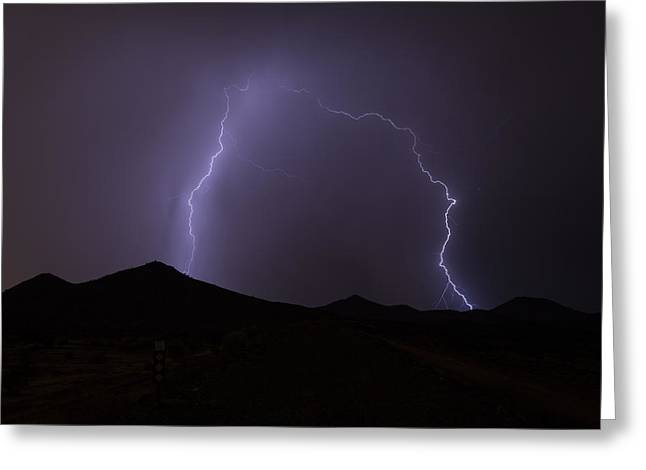 Arizona Lightning Greeting Cards - Rain Is Coming Greeting Card by Cathy Franklin