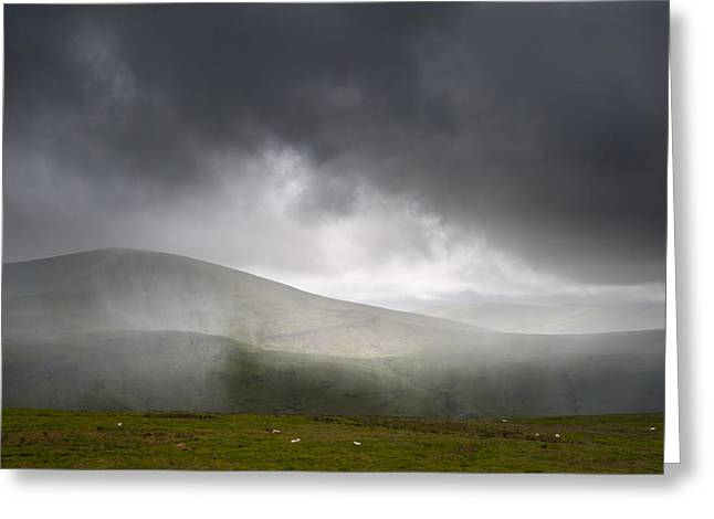 Brecon Beacons Greeting Cards - Rain Greeting Card by Matthew Gibson