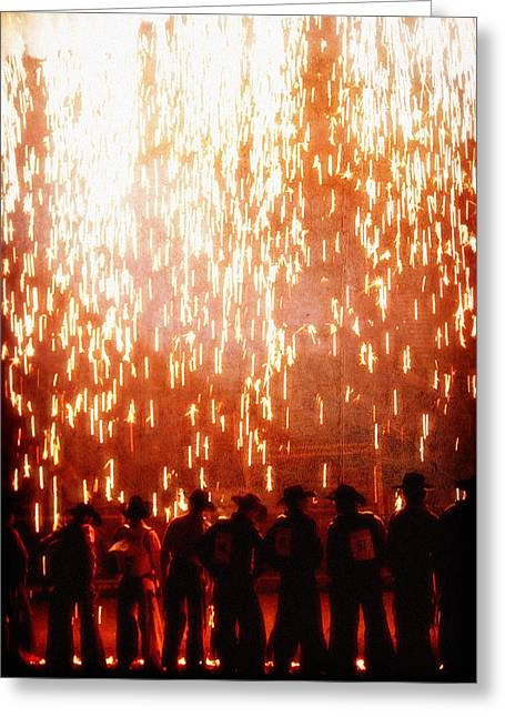 Pbr Greeting Cards - Rain of Fire Greeting Card by Lincoln Rogers