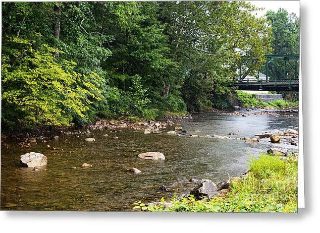 Baker Island Greeting Cards - Rain on Elk River Greeting Card by Thomas R Fletcher