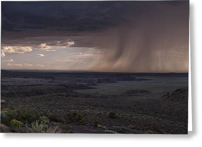 Best Seller Greeting Cards - Rain On the Horizon Greeting Card by Melany Sarafis