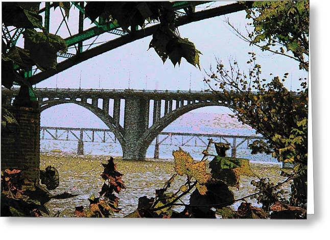 Tennessee River Greeting Cards - Rain on the Tennessee River Greeting Card by Joyce Kimble Smith