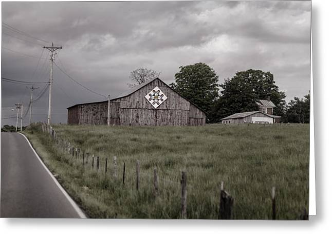 Tobacco Barns Greeting Cards - Rain Rolling In Greeting Card by Heather Applegate