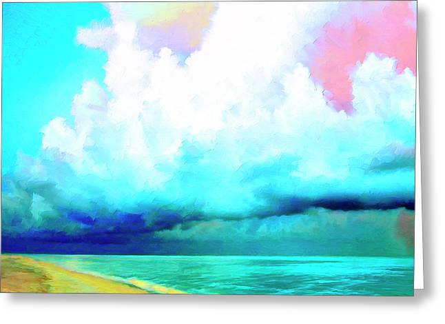 Lahaina Greeting Cards - Rain Squall Na Pali Coast Greeting Card by Dominic Piperata