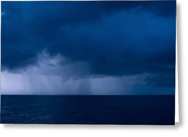 Surreal Photography Greeting Cards - Rain Squalls At The Sea, Negril Greeting Card by Panoramic Images