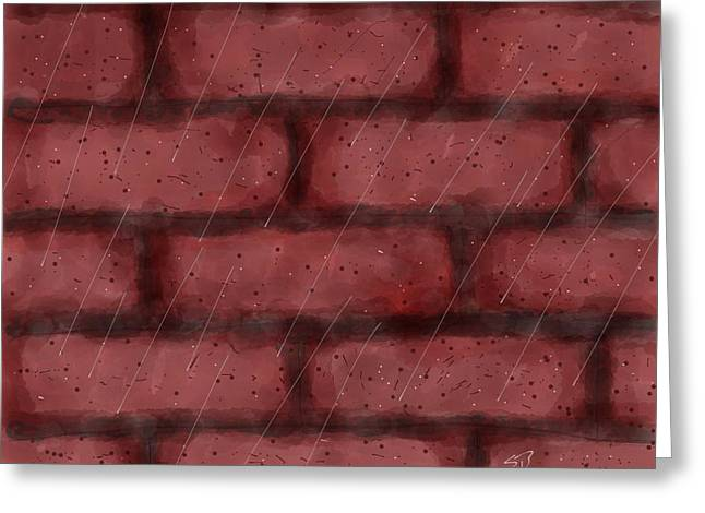 Stacy Bottoms Greeting Cards - Digital Rain Greeting Card by Stacy C Bottoms