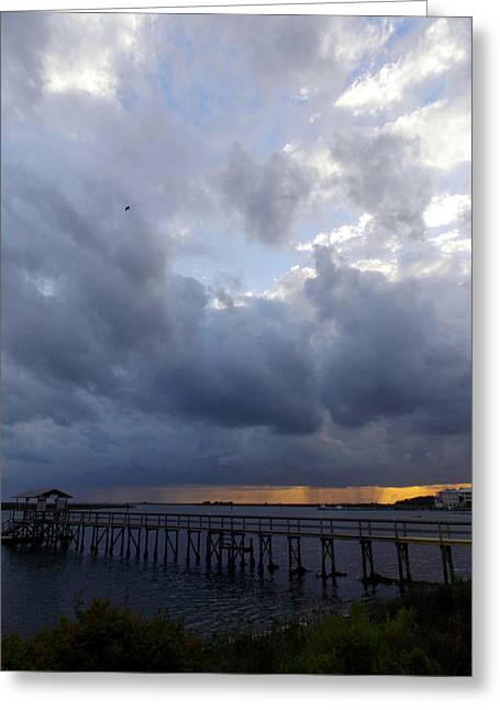 Storm Prints Digital Art Greeting Cards - Rain Storm Coming 1 Greeting Card by Sheri McLeroy