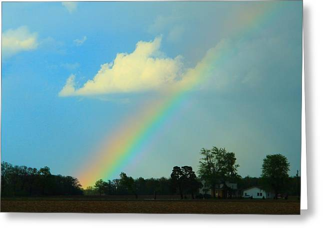After The Storm Greeting Cards - Rainbow After The Storm Greeting Card by Dan Sproul