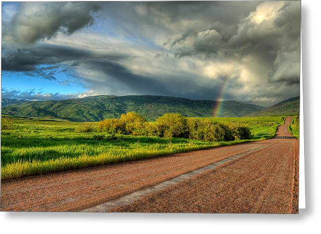 Rainbow after the storm Greeting Card by John McArthur