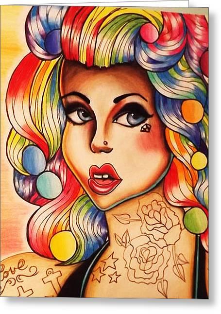 Prisma Colored Pencil Greeting Cards - Rainbow Greeting Card by Amanda Smentkowski