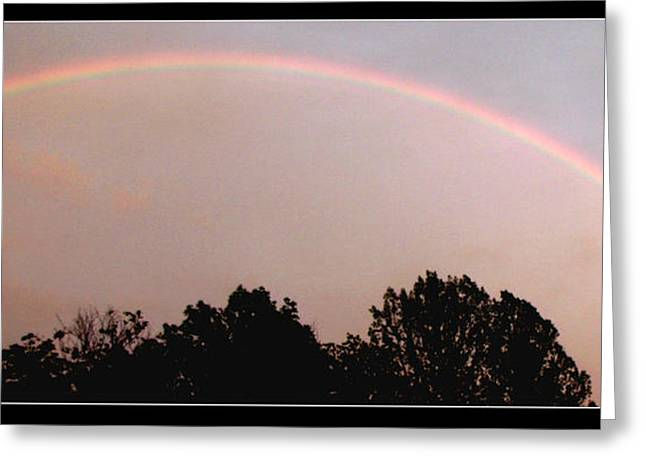 Storm Lovers Art Greeting Cards - Rainbow Arch Display Greeting Card by Gail Matthews