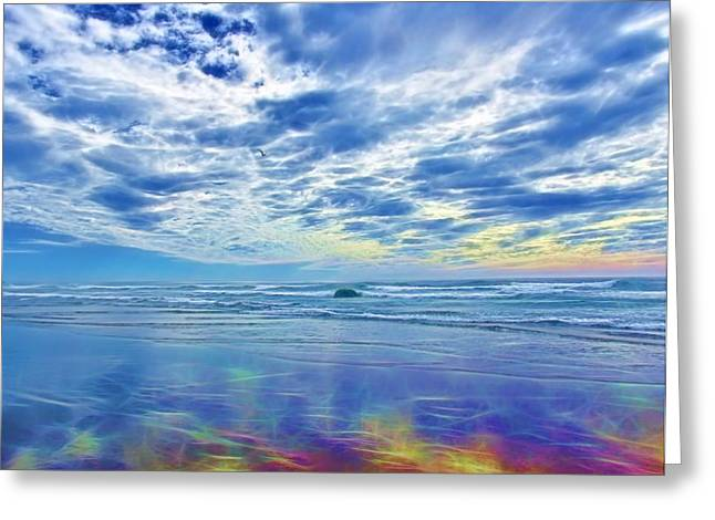 Tidal Photographs Greeting Cards - Rainbow Beach Greeting Card by Connie Andrews