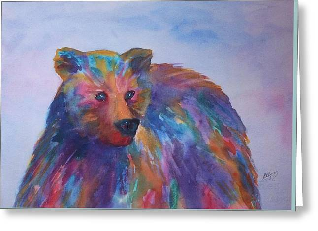 Whimsical. Greeting Cards - Rainbow Bear Greeting Card by Ellen Levinson