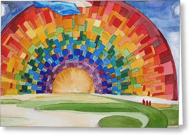 Becky Kim Greeting Cards - Rainbow Greeting Card by Becky Kim