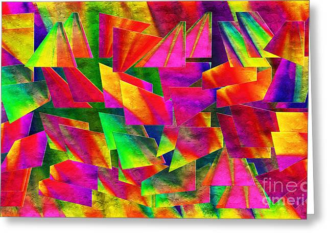 Rainbow Bliss 2 - Twisted - Painterly H Greeting Card by Andee Design