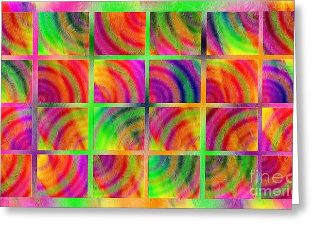Rainbow Bliss 3 - Over The Rainbow H Greeting Card by Andee Design