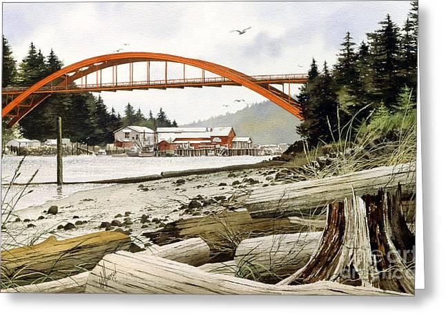 Bridge Framed Prints Greeting Cards - Rainbow Bridge Greeting Card by James Williamson
