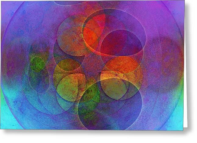 Rainbow Bubbles Greeting Card by Klara Acel