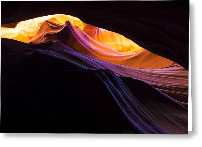 Exposure Greeting Cards - Rainbow Canyon Greeting Card by Chad Dutson