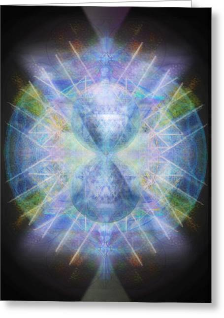 Chakra Rainbow Digital Greeting Cards - Rainbow Chalice Cell iSphere Matrix Greeting Card by Christopher Pringer