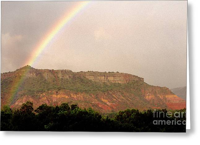 Clearing Greeting Cards - Rainbow Clearing Storm Greeting Card by Thomas R Fletcher