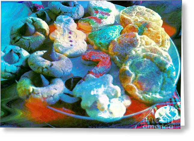 Cut-outs Greeting Cards - Rainbow Colored Cookies Greeting Card by Kathleen Struckle