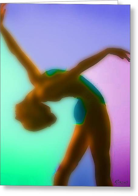 Dancing Girl Pastels Greeting Cards - Rainbow Dance Greeting Card by Tony Rubino