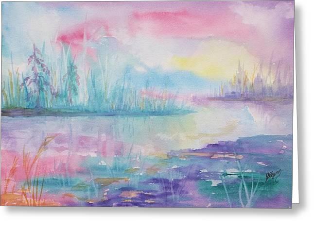 Interior Scene Greeting Cards - Rainbow Dawn Greeting Card by Ellen Levinson