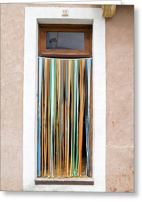 Rainbow Door Greeting Card by Georgia Fowler