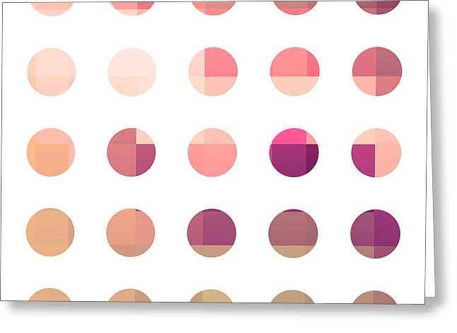 Rainbow Dots Rose Greeting Card by Pixel Chimp