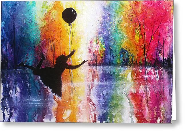 Rainbow Dreams Greeting Card by Ann Marie Bone