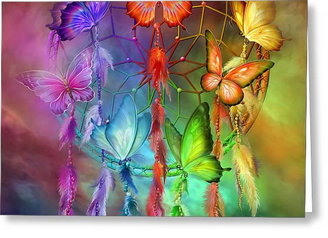 Rainbow Dreams Greeting Card by Carol Cavalaris