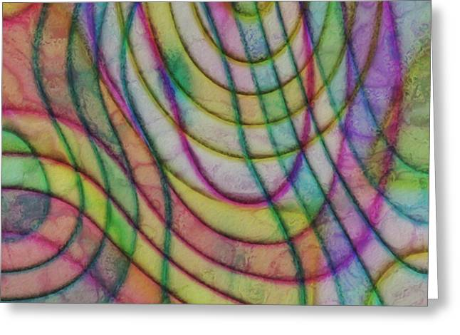 Luster Greeting Cards - Rainbow Drops 11 Greeting Card by Jack Zulli