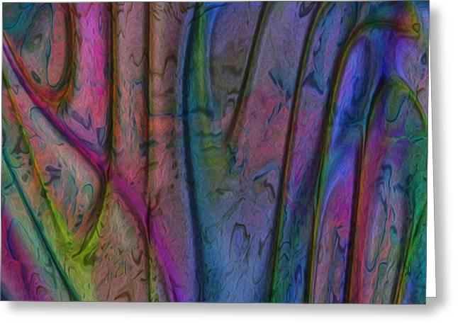 Luster Greeting Cards - Rainbow Drops 7 Greeting Card by Jack Zulli