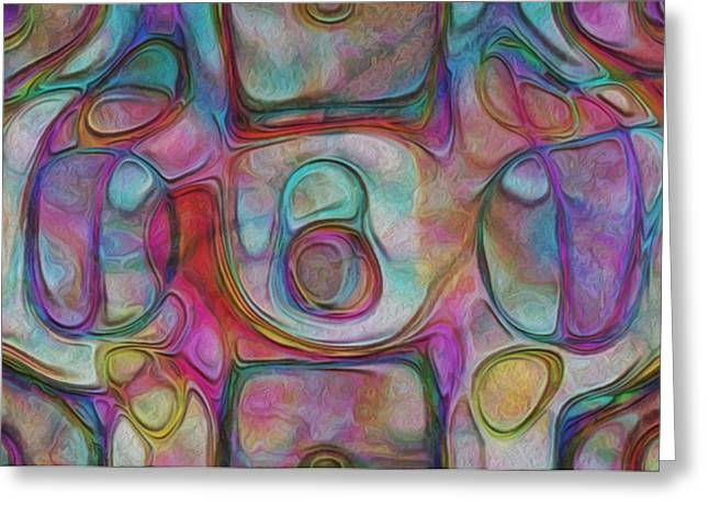 Purple Abstract Print Greeting Cards - Rainbow Drops II Greeting Card by Jack Zulli