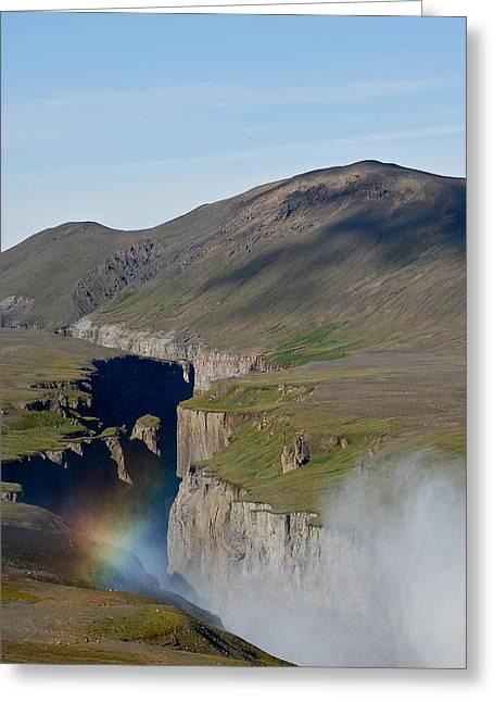 Tauchen Greeting Cards - Rainbow Greeting Card by Erlendur Gudmundsson