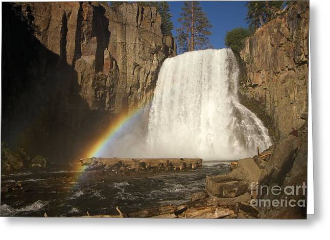 Double Rainbow Greeting Cards - Rainbow Falls Greeting Card by Adam Jewell