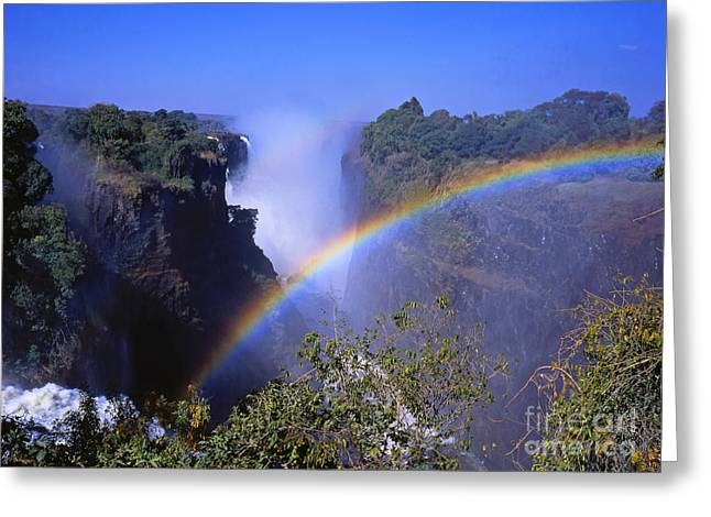 Livingstone Greeting Cards - Rainbow Falls Greeting Card by Alex Cassels
