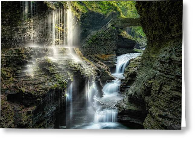 Ethereal Waterfalls Greeting Cards - Rainbow Falls Greeting Card by Bill  Wakeley