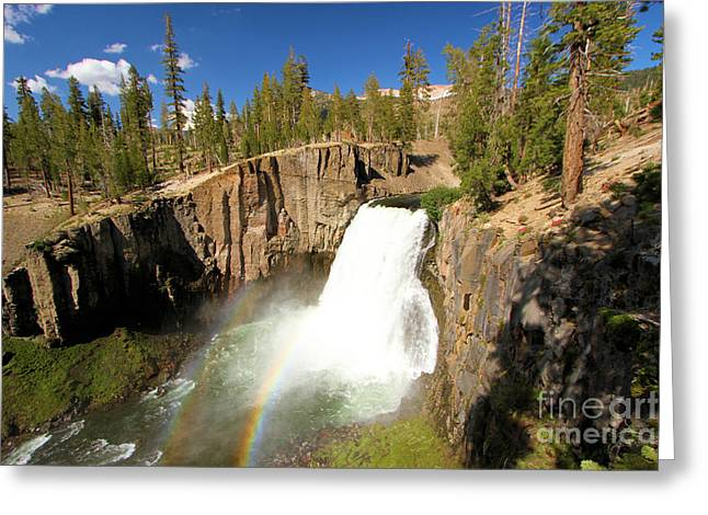 Double Rainbow Photographs Greeting Cards - Rainbow Falls Gorge Greeting Card by Adam Jewell