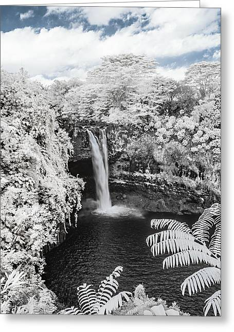 Abstract Water And Fall Leaves Greeting Cards - Rainbow Falls in Infrared 1 Greeting Card by Jason Chu