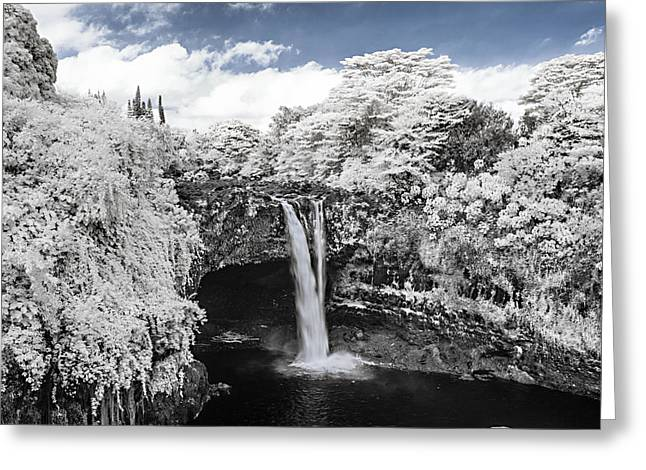 Abstract Water And Fall Leaves Greeting Cards - Rainbow Falls in Infrared 2 Greeting Card by Jason Chu