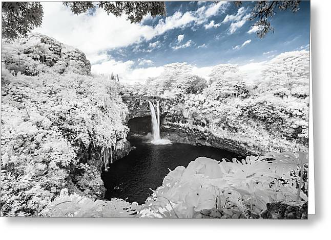 Abstract Water And Fall Leaves Greeting Cards - Rainbow Falls in Infrared 3 Greeting Card by Jason Chu