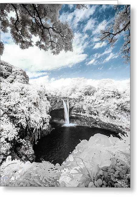 Abstract Water And Fall Leaves Greeting Cards - Rainbow Falls in Infrared 4 Greeting Card by Jason Chu