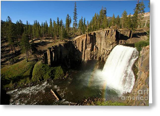 Double Rainbow Greeting Cards - Rainbow Falls Spring Greeting Card by Adam Jewell