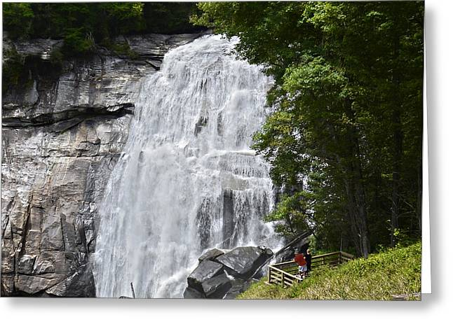 Rainbow Falls Greeting Card by Susan Leggett