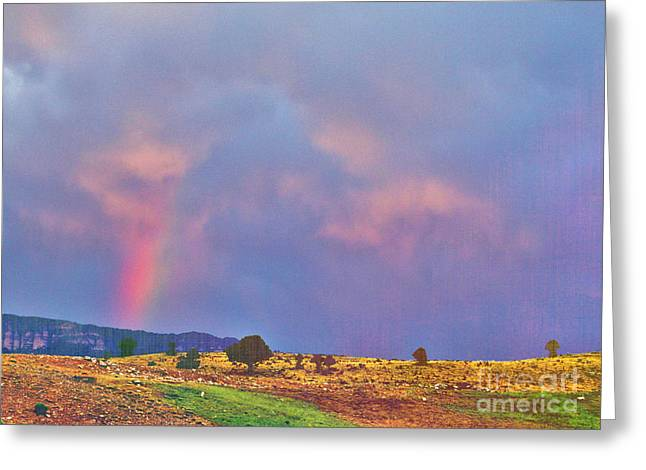 Roadway Greeting Cards - Rainbow Fire in the Sky Greeting Card by Janice Rae Pariza