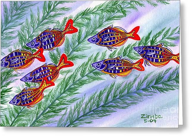 Lori Ziemba Greeting Cards - Rainbow fish Greeting Card by Lori Ziemba