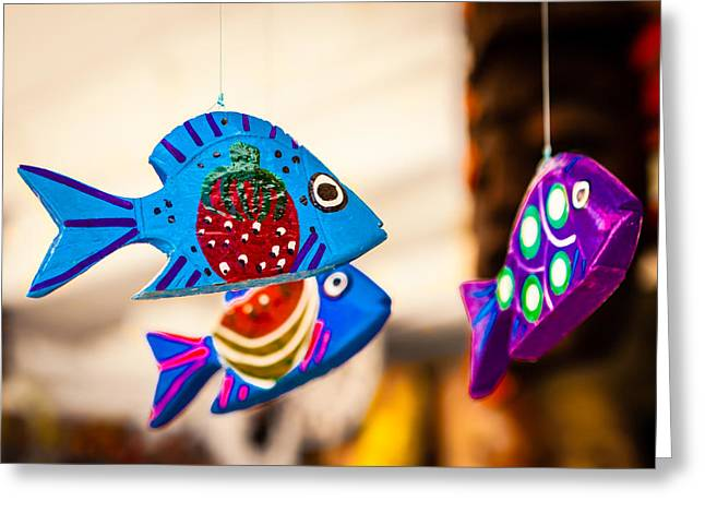 Hanging Mobile Greeting Cards - Rainbow Fish Greeting Card by Melinda Ledsome